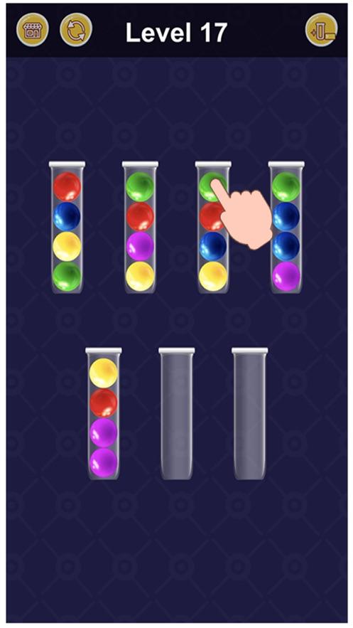 水彩球拼图排序